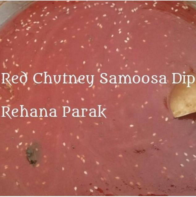 Red Chutney Samoosa Dip
