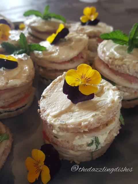 Mini Savoury Sandwich Cake