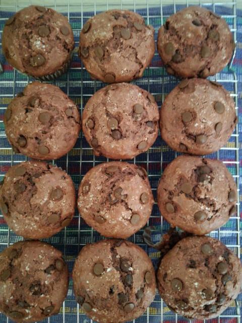 Red Velvet Chocolate Muffins