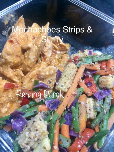 Mochachoes Strips And Asian Stirfry