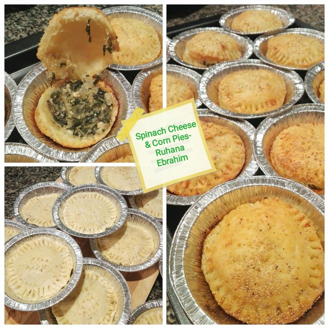 Spinach Cheese & Corn Pies