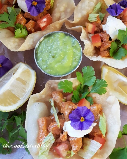 Chicken Taco Bowls Recipe: Chicken Taco Bowls Recipe By Thecooksisterblog