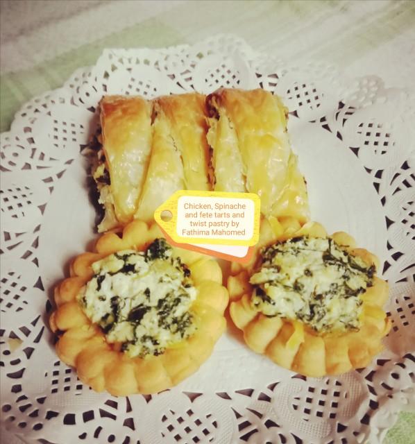 Chicken, Spinache, Cream Cheese, Fete In Mini Savoury Tart