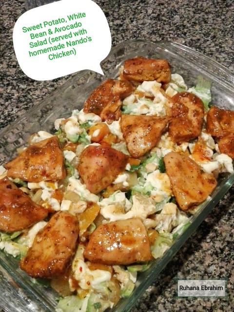 Sweet Potato White Bean Avocado Salad