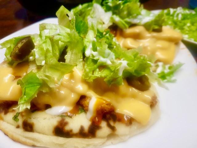 Open Chicken Naan