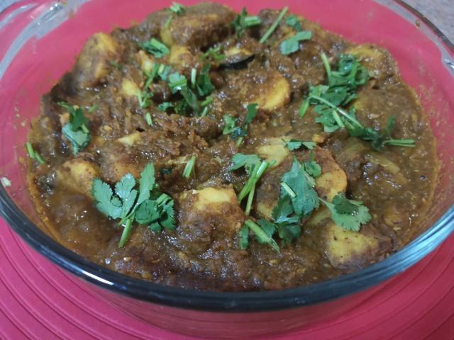 Madumbi (yam) Curry