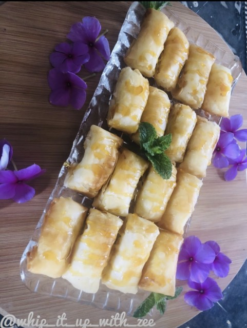 Easy Kiri Cheese Springrolls