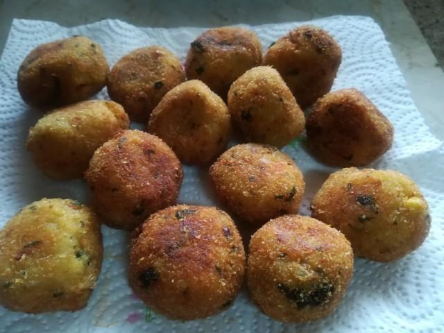 Mash Potato Rice Balls