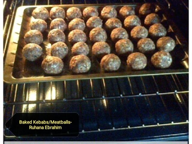 Baked Kebabs/ Meatballs