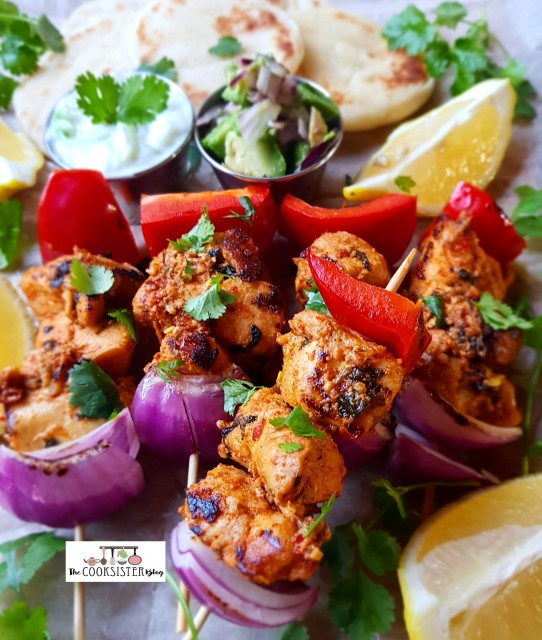 Morrocan Inspired Chicken Skewers