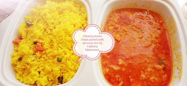 Creamy Prawn Chaat Served With Savoury Rice