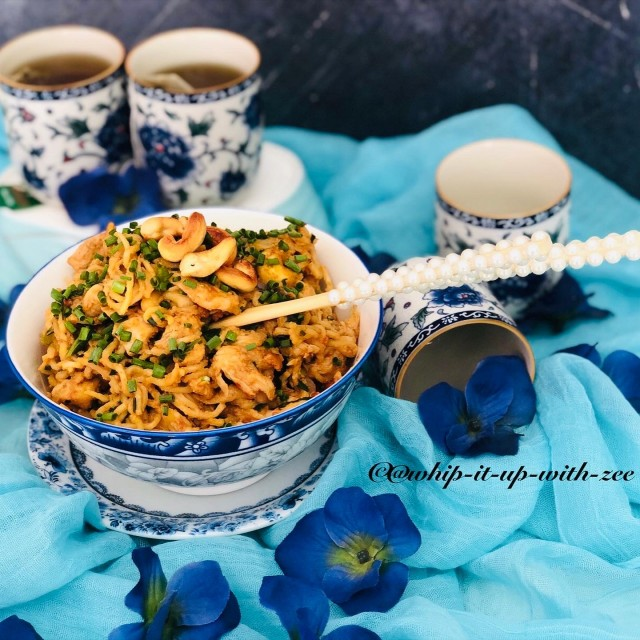 Chicken In Satay Sauce With Ramen(noodles)