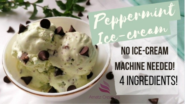 Peppermint Ice-cream Without Ice Cream Machine🍨💚