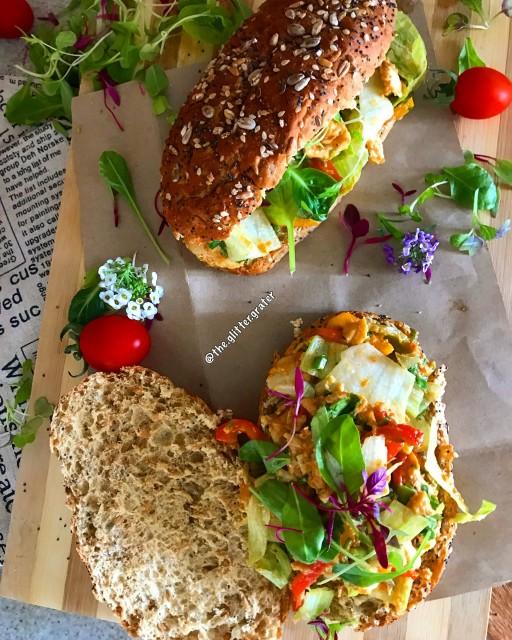 Mixed Pepper And Mustard Chicken Rolls