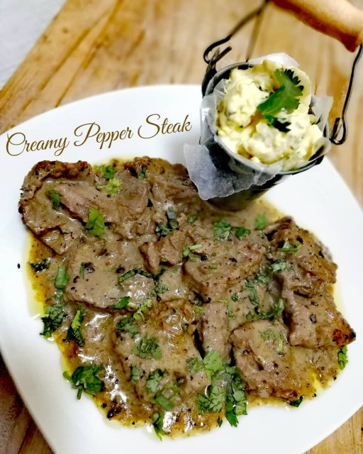 Creamy Pepper Steak