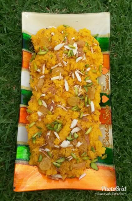 Carrot Sojee (semolina Pudding)
