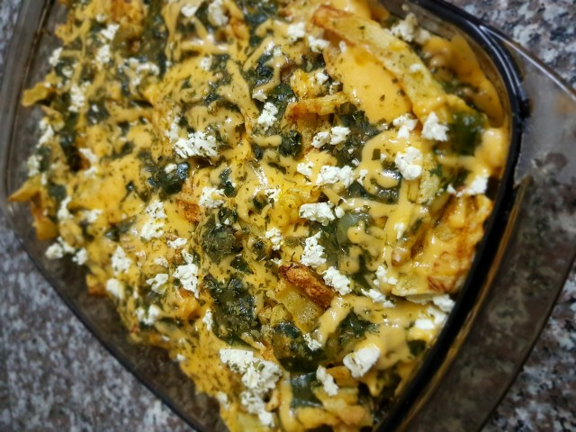 Chicken..chips..spinach And Feta Casserole