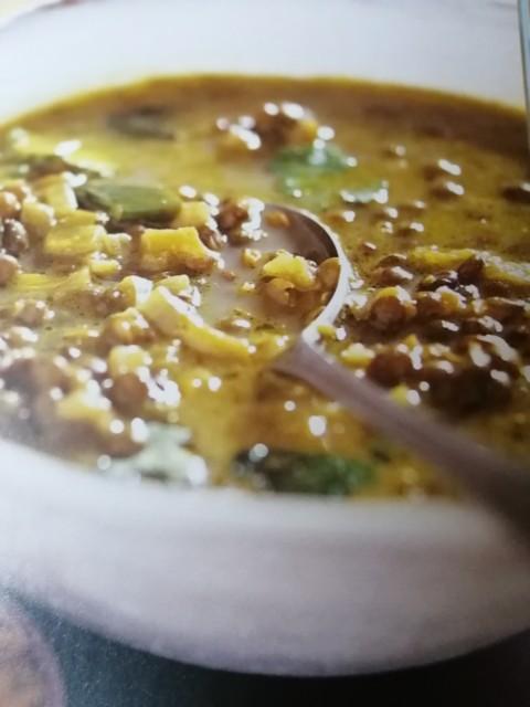 Green Lentil Soup(serves 4)