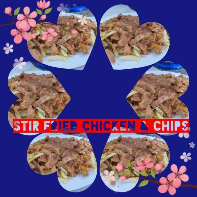 Stir Fried Chicken N Chips