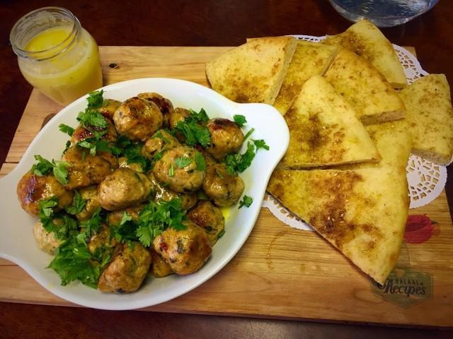 Chicken Kebab With Lemon Butter + Dukkah Flat Bread   / My Recipe