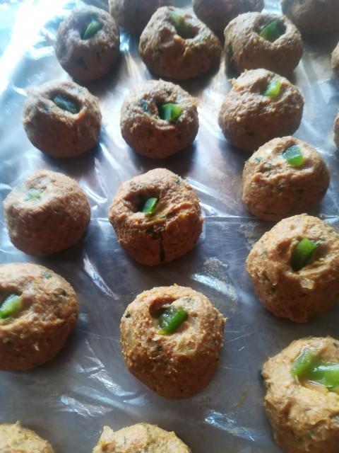 Cheesy Kabaab/meatballs