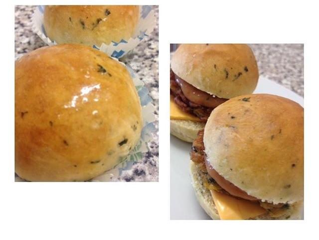 Homemade Mini Garlic Rolls(burgers)