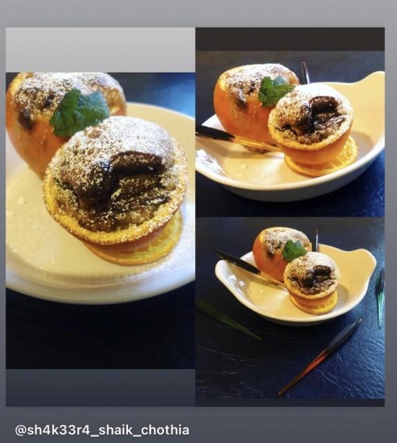 Chocolate Cake In An Orange