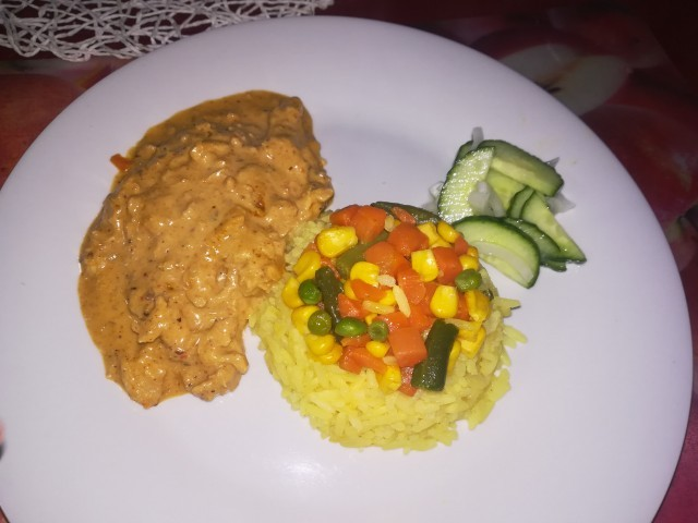 Chicken Strips With Spicy Rice