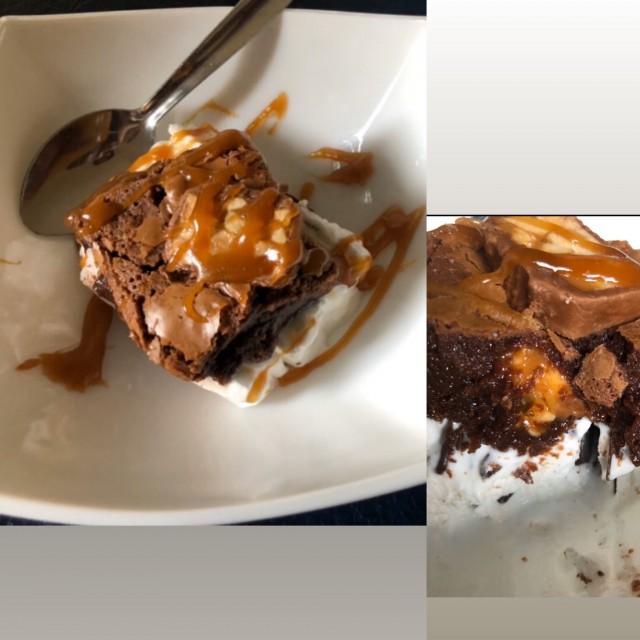 Nutella/snickers Brownies