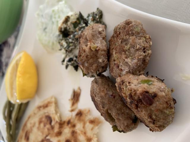 Lamb And Pistachio Kofta (kebab/meatball)