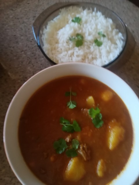 Steak With Butter Bean Curry