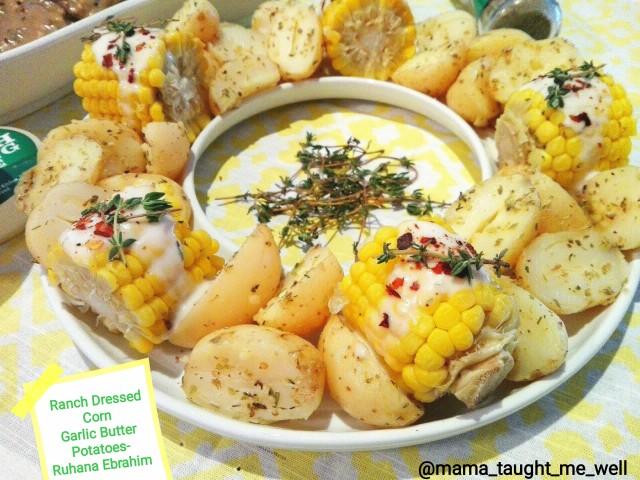 Ranch Corn & Garlic Potatoes