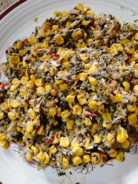 Cheesy Chicken Spinash & Corn Filling