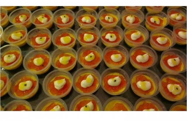 Mango/raspberry Mousse