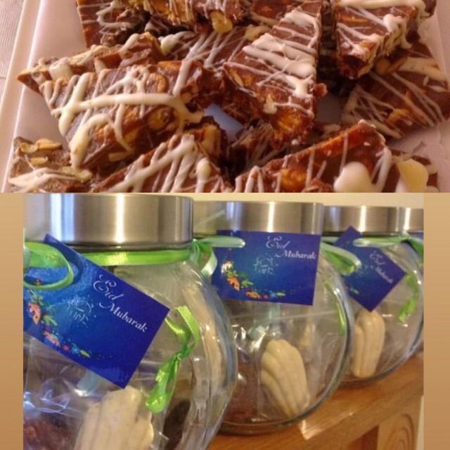 Nutty Honeycomb Chocolates