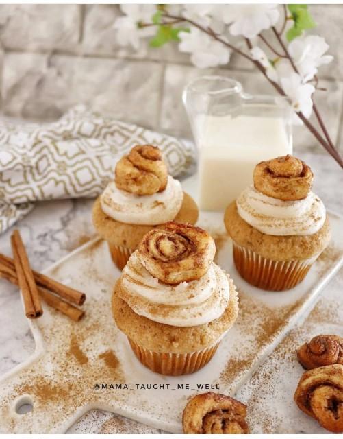 Caramel Apple Cinnabon Cupcakes