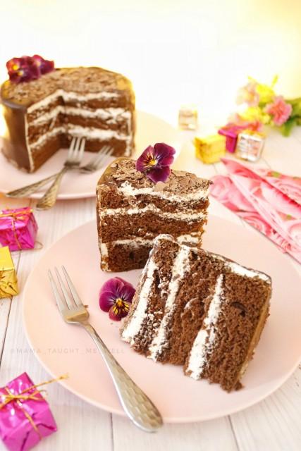 Chocolate Ganache & Cream Cake