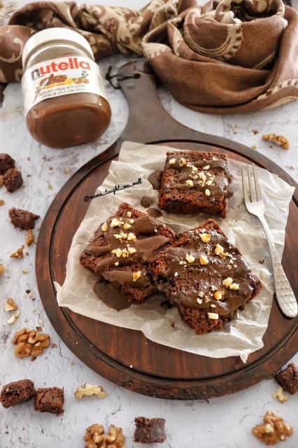 6min Nutella Brownies