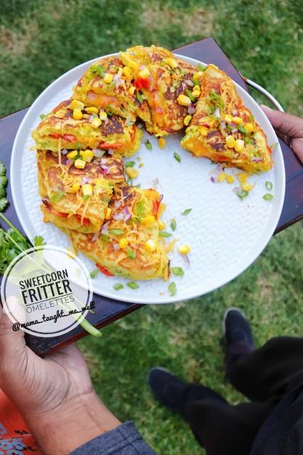 Sweetcorn Fritter Omelettes
