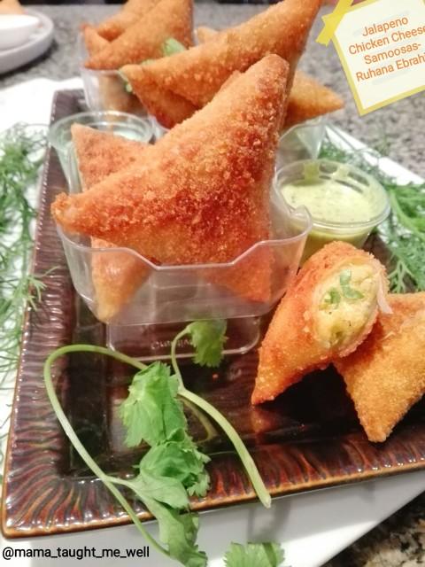 Jalapeno Chicken Cheese Samoosas (creamy)