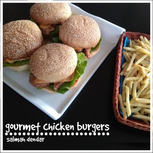 Gourmet Chicken Burgers