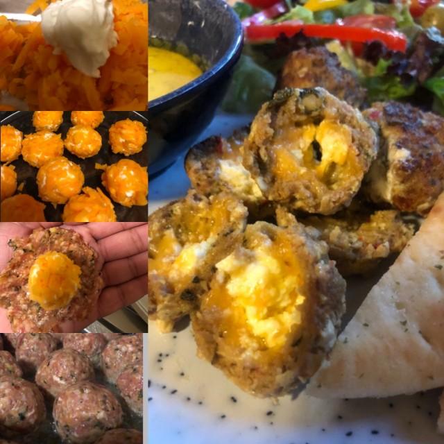 Cheesy Lamb Kebabs