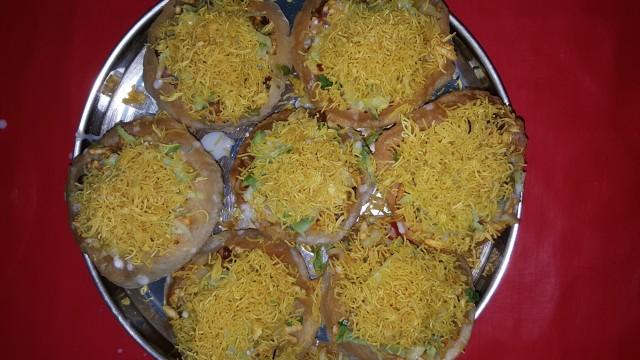 Raj Kachori Indian Chat Basket