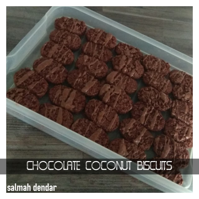 Chocolate Coconut Biscuits