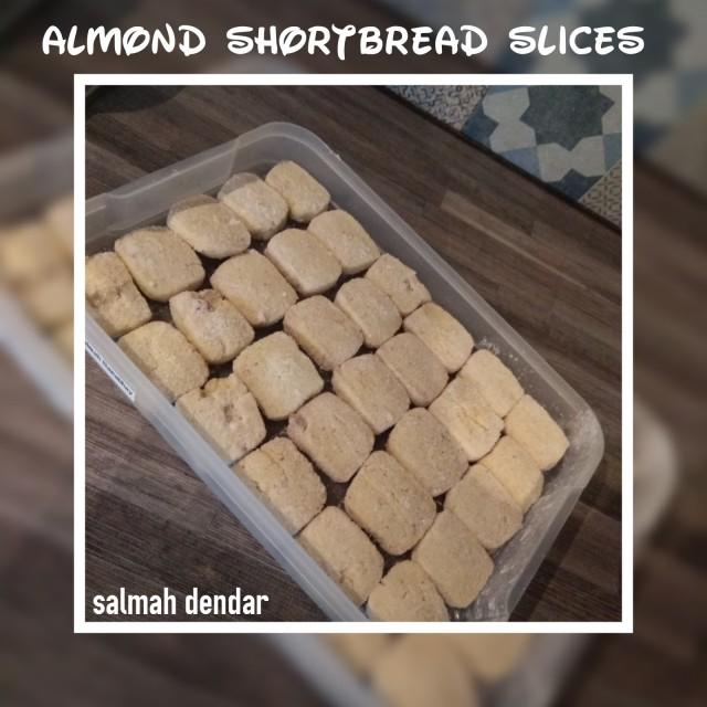 Almond Shortbread Slices