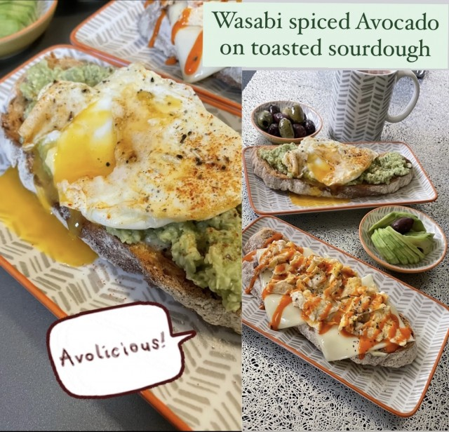 Wasabi Spiced  Avocado On Toasted Sourdough