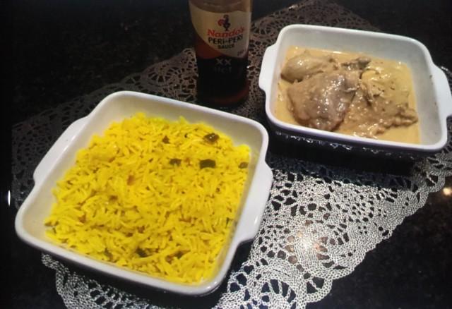 Nando's Chicken & Spicy Rice  🍗 🍚