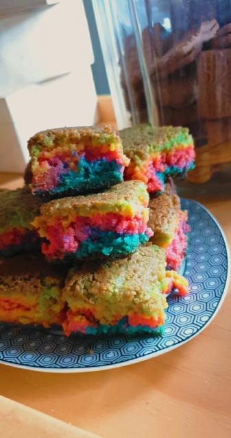 Rainbow Brownies
